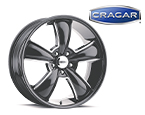 Cragar 615BMBC Series Modern Muscle Gloss Black with Machined Lip Wheels