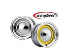 U.S. Wheel 52 Series Chrome Smoothie Wheels and U.S. Wheel 53 Series Chrome Smoothie Wheels with Raw Center