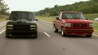 """MuscleTrux Wars"" - '90 Chevy 454 SS vs. '94 Ford Lightning"