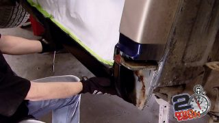 How to Rust Repair a Rocker Panel & Cab Corner Part 1