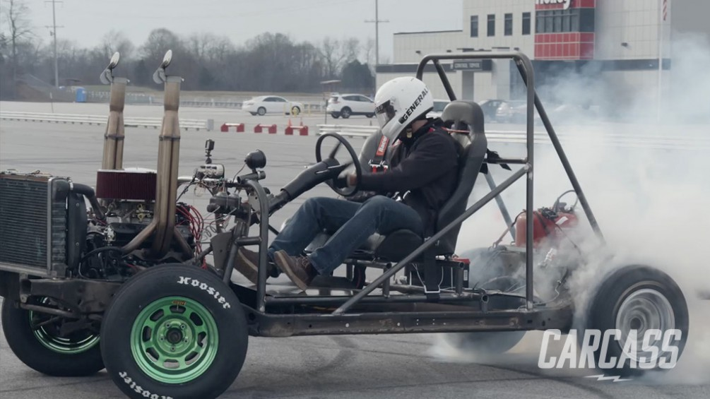 Building a Man-Sized Go-Kart from a Junkyard Bound Chassis