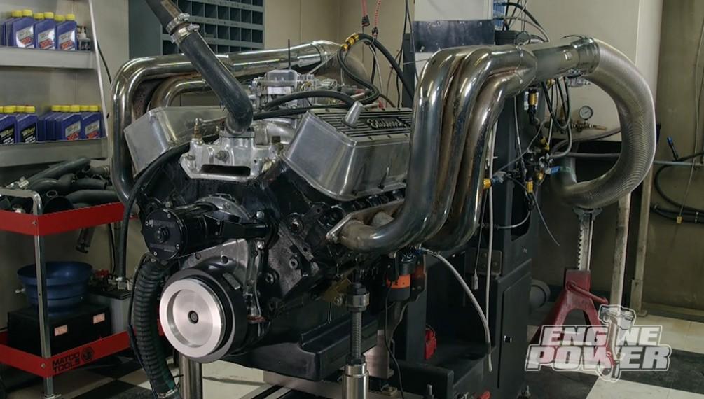 Prueba de dinamómetro en el motor 455 Jet Boat