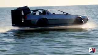 DeLorean Hovercraft, Ridesharing Rewards, Amateur Ice Stunt, Heroic Grandmother, Apple Co-Founder On Self-Driving Cars,
