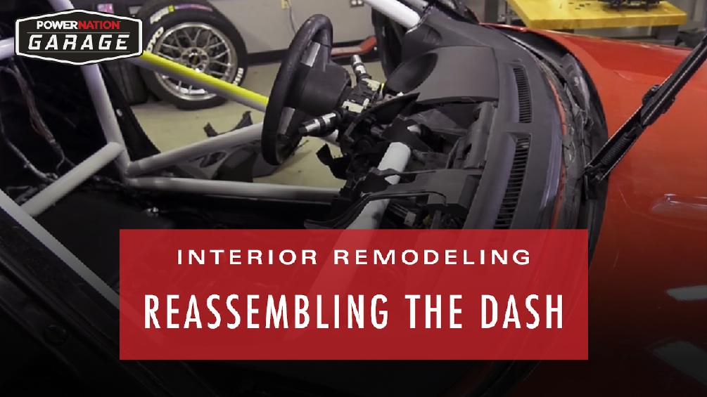 Interior Remodeling Reembling The Dash Adding Racing Seats And Safety Gear