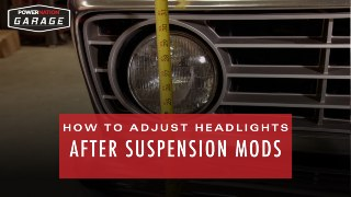 How To Adjust Headlights After Suspension Modifications