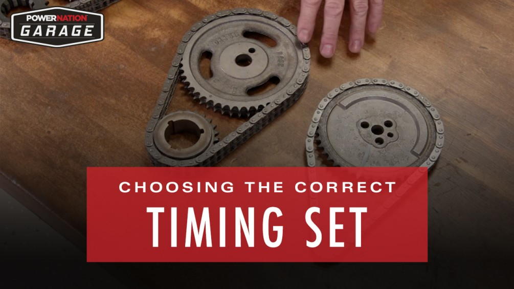 Correct Timing Set For Your Application