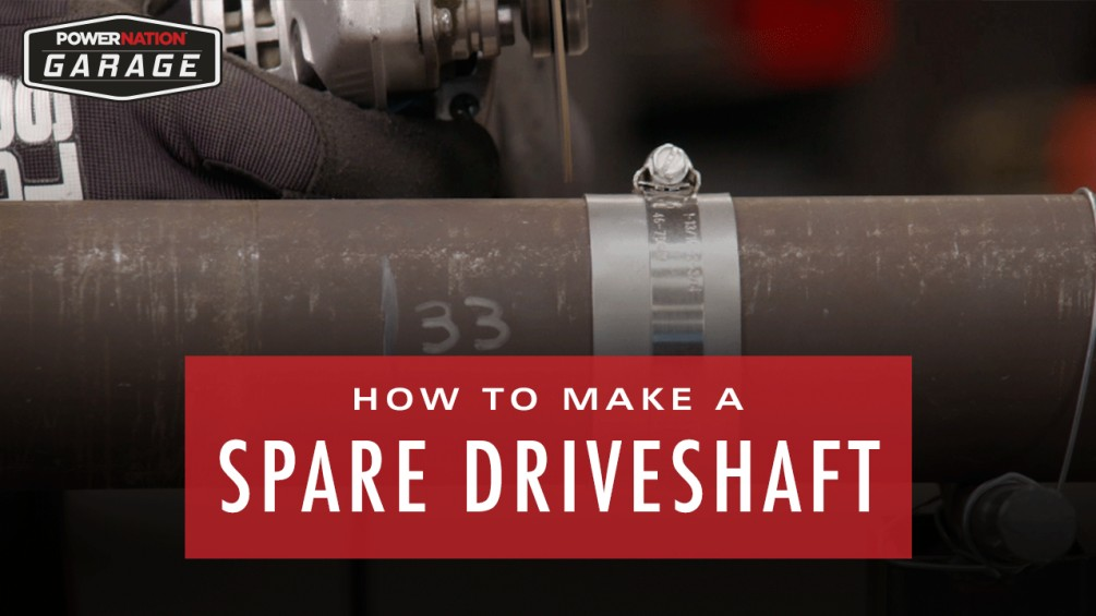 How To Make A Spare Driveshaft