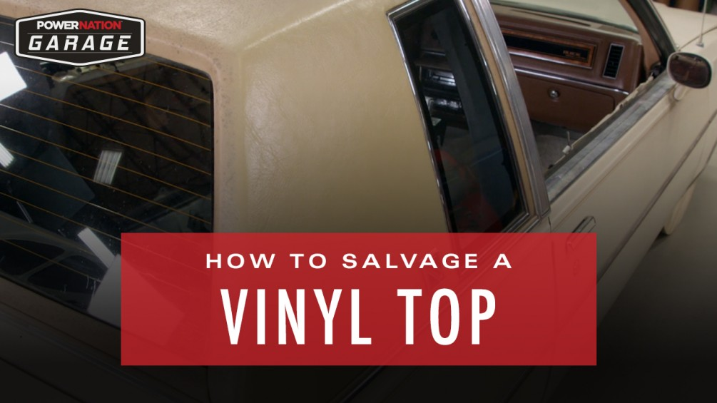 How To Salvage A Vinyl Top