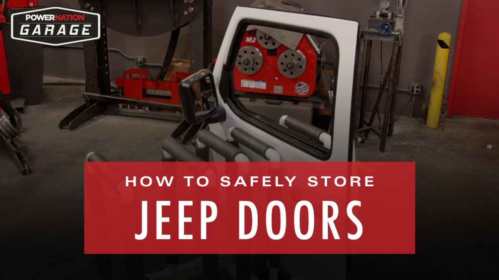 How To Store Jeep Doors Safely