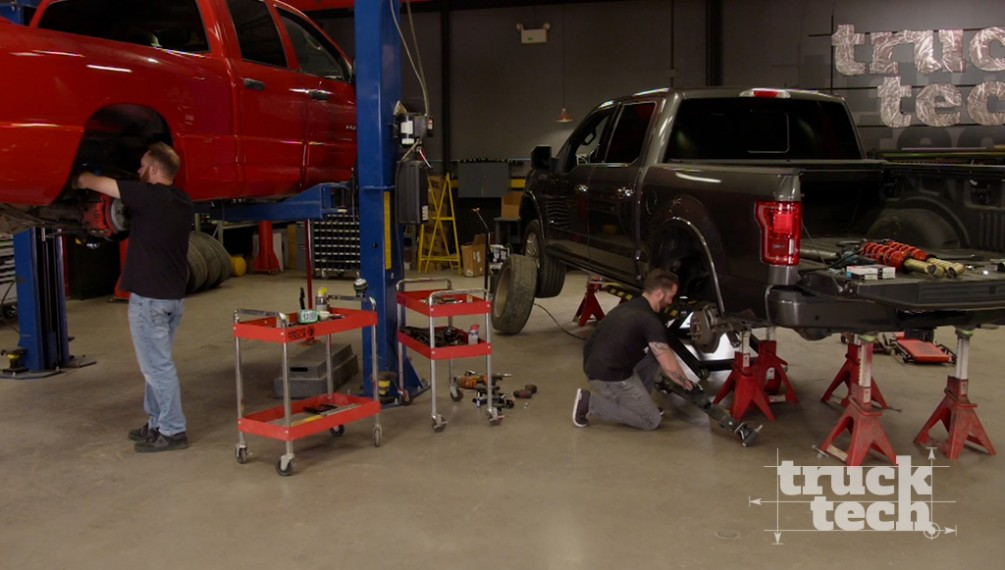 Ram SRT-10 and F150 Get Lowering Kits: Muscle Trux Build-Off Suspension