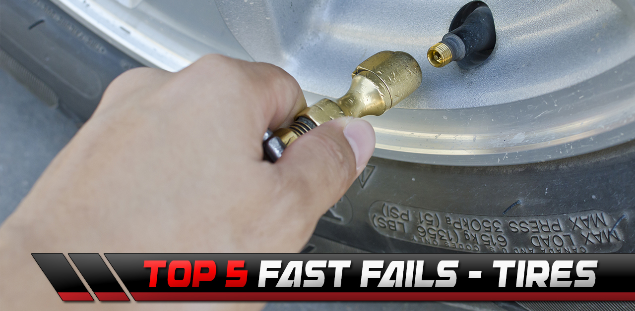 The Top 5 Fast Fails: Tire FAILS! Tire Explosions