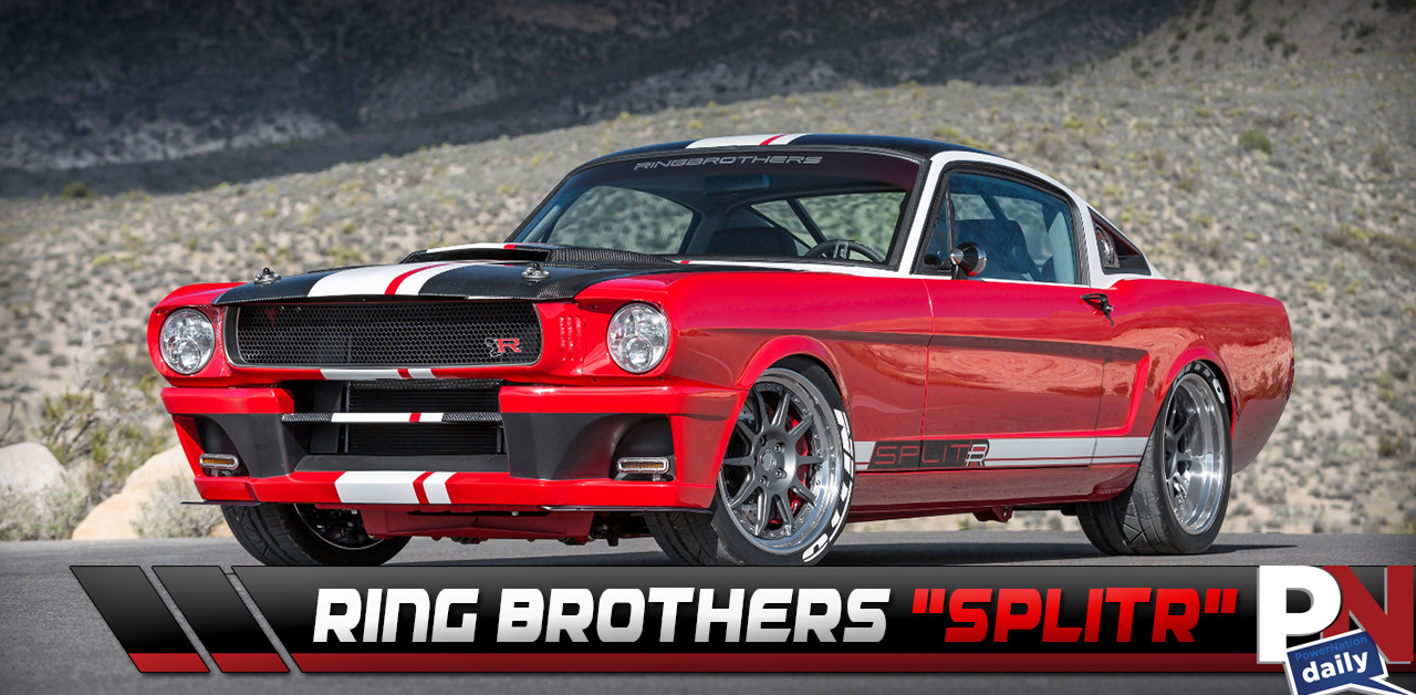 The Ring Brothers' Red, White, And Black 1965 Ford Mustang Called SPLITR!