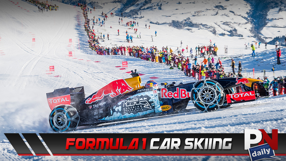Formula 1 Car Hits The Slopes To Do A Little…. Skiing? What? Check It Out!