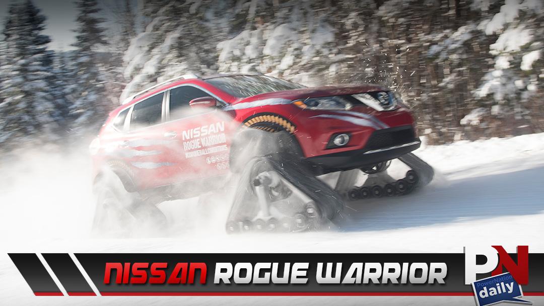 The Nissan Rogue Warrior With Heavy Duty Snow Tracks!