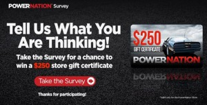 Now's Your Chance To Win A $250 POWERNATION Gift Card!