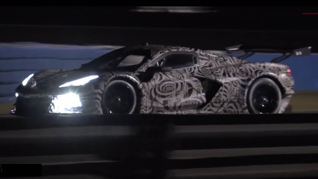 Leaked Video Of The New C8 R Corvette Testing And Shooting