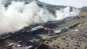 170 Drivers Come Together To Break Burnout World Record