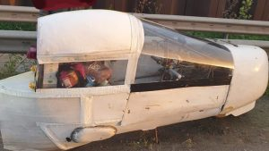 Man Pulled Over In Homemade Vehicle Made Of Duct Tape