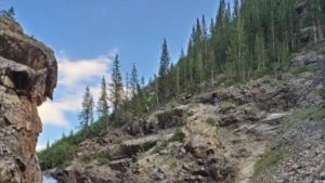 WATCH: Motorcyclist Falls Off Colorado Cliff, Survives