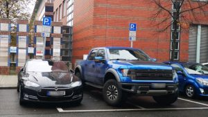Police Tow F-150 Raptor Parked Blocking EV Chargers
