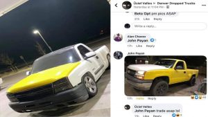 Facebook Helps Unite Two Truck Owners Who Need Each Other's Silverado Hood