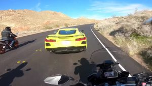 Test Driver In New 2020 C8 Almost Takes Out Group of Motorcyclists