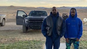 Kanye West Drives His Fleet Of Ford Raptors Around His $14 Million Ranch