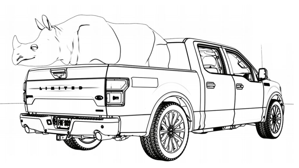 2017 Ford F 150 Raptor coloring page | Free Printable Coloring Pages | 576x1024