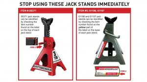 Harbor Freight Recalling Jack Stands That Could Collapse During Use