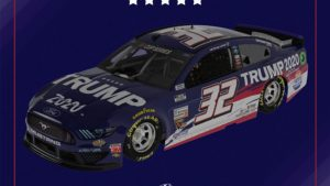 NASCAR Driver Corey LaJoie's Mustang Will Debut 'Trump 2020' Sponsorship At Brickyard 400