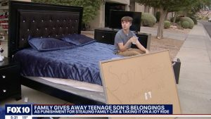 Parents Force Teen To Give Away All His Belongings As Punishment For Taking Their Range Rover On A Joy Ride