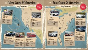 A Series Of Treasure Maps Has Been Created To Find 20 Of The World's Most Famous Missing Cars