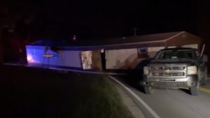 Chevy Pickup Driver Caught Towing A Single Wide Mobile Home Down The Road