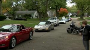 Man Surprises 10-Year-Old Boy Fighting Brain Cancer With Corvette Parade