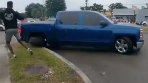 When Car Meets Go Wrong: Silverado Driver Fails Donut Attempt and Snaps the Wheel Off His Truck
